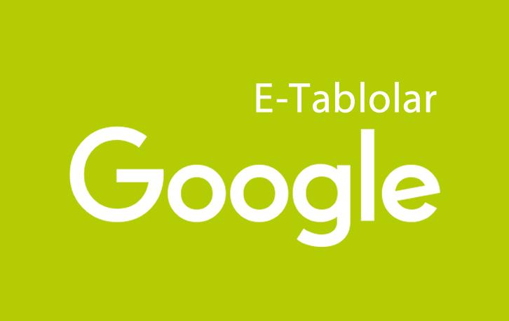 Google E-Tablolar Güncellemesi
