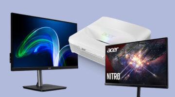 Acer, Ev Eğlencesi için Yeni Monitörlerini ve 4K Projeksiyon Cihazını Tanıttı